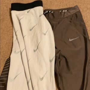 2 pair Nike M running tights